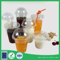 Wholesale clear plastic cups with lids PP drinking cup 500 ml supplier in clear color from china suppliers