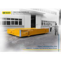 Quality 50 Ton Die Transfer Cart Trackless Material Transportation Polyurethane Coated for sale