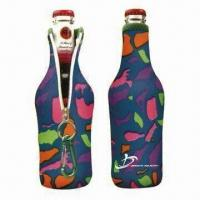 China Neoprene Wine or Beer Bottle Coolers/Holders, with Customer Logo Printing on sale