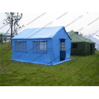 Wholesale Soft PVC Windows Outdoor Event Tent , Blue Roof Cover Refugee Tent For Disaster Relief from china suppliers