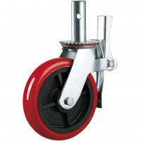 China Stem PU 6 Inch 8 Inch Heavy Duty Caster Wheels Industrial Outdoor Support on sale