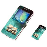 Wholesale Cute PU Leather Samsung A7  Phone Covers with Stand and Cartoon Print from china suppliers