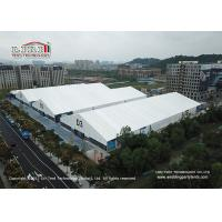 China 30M x100M  Temporary Large Outdoor Exhibition Tents With Whie Roof Cover For Conference on sale
