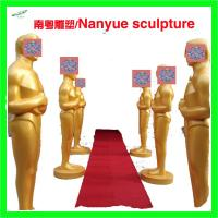 Wholesale Event party decoration statue Oscar statue in Gold color by fiberglass material real copy from china suppliers