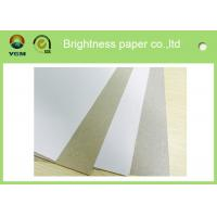 China Anti Curl Whiteness Grey Back Duplex Board With One Side Offset Printing on sale