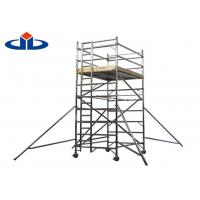 Wholesale 0.3 KN Aluminium Scaffolding Frame System Mobile Light Platform Scaffold Tower from china suppliers