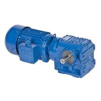 China S Series Helical Worm Speed Transmission Gear Box Electric Drive Motor Reducer on sale