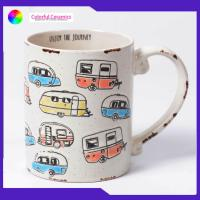 China Hand painted cartoon car ceramic mugs old effect Can be customized coffee mug on sale