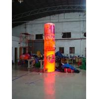 5m Customized Color Advertising Helium Balloons Inflatable Pillar With Light For Party