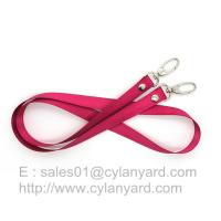 China Double ended clip badge lanyard with rivet, rivet lanyard with two end hook, on sale