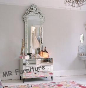 Beautiful Venetian Glass Mirrors Antique, Large Venetian Etched Mirror