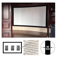 Wholesale xy screen 150 16:9 indoor fixed frame projection screen acoustic transparent screen Sound Max4K from china suppliers
