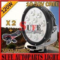 Wholesale 9 INCH 120W CREE OFFROAD LED Driving Light For Truck 4x4 4wd Boat Tractor Auto Headlight from china suppliers