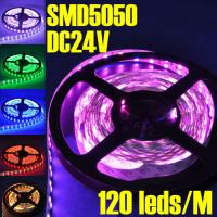 Wholesale 120 leds/M Non-waterproof DC24V Double Row LED Flexible Strip Light SMD 5050 from china suppliers