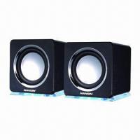 Wholesale 2.0CH Computer Speakers, Attractive Colors and 3.5mm Stereo Plug, Customized Logo from china suppliers