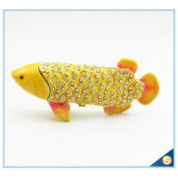 Buy cheap Gold Fish Shape Trinket Box With Rhinestone For Fish Trinket ...