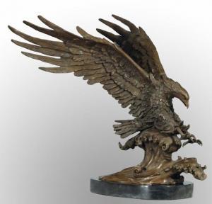 China Bronze Garden Sculpture Animal Statue Eagle (HY0284) on sale