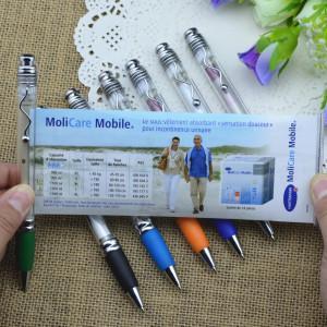 China Factory New Design Cheap Custom Advertising Banner Pen Plastic Promotional Ballpoint pen on sale