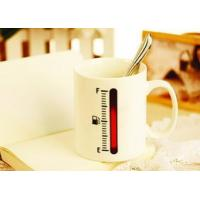 Wholesale certifictionc change colors mug ceramic  thermometer magic  cup from china suppliers