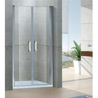 China Sand Silver Saloon Pivot Shower Doors 6MM Tempered Glass With Aluminum Frame on sale