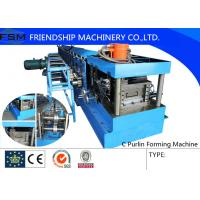 Wholesale 40mm - 80mm C Steel Purlin C Z Purlin Roll Forming Machine With Hydraulic Station from china suppliers