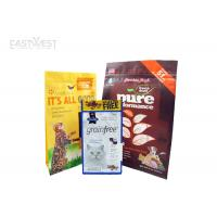 Wholesale Block Bottom Pet Food Pouches Logo Printed Customized Clear Window from china suppliers