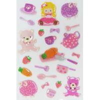 Wholesale Kawaii Girl Toy Japanese Puffy Stickers For Kids ODM OEM / ODM Available from china suppliers
