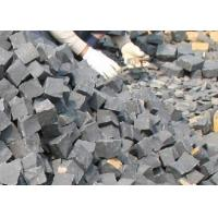 China Cobalt black granite paving stone, 10x10x10cm on sale