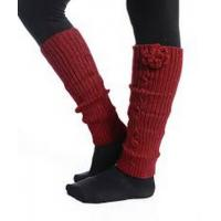 Wholesale Pretty Red Knitted Leg Warmer , Winter Arylic / Spandex Knit Leg Warmers from china suppliers