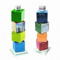 Wholesale Promotional Building Blocks Calendars, Customized Colors are Accepted from china suppliers
