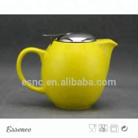 Quality Ceramic teapot with stainless steel lid and strainer stoneware type for sale