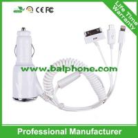 car charger with cable for iphone6/5/iphone4/HTC/Sumsung