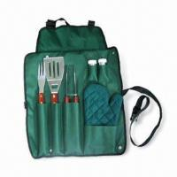 Wholesale Barbeque Set with Spatula, Fork and Tongs, Suitable for Promotional Purposes from china suppliers