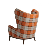 Wholesale Outdoor High Back American Style Butterflies Design Waterproof FabricLeisure Chair Single Sofa Chair with Wood Legs from china suppliers