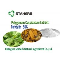 Buy cheap Pure natural extract Polygonum Cuspidatum Root Polydatin Powder 98%,50% HPLC 65914-17-2 from wholesalers