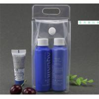 Quality Leak Proof Transparent PVC Cosmetic Bag , Clear Cosmetic Bags With Handles for sale