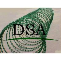 Wholesale Anping factory height quality PVC coated razor barbed wire netting fence from china suppliers