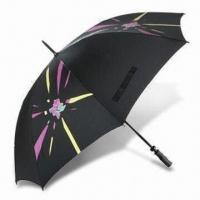 Wholesale London 2012 Golf Umbrella with Fiberglass Frame, Made of Recycled Polyester from china suppliers