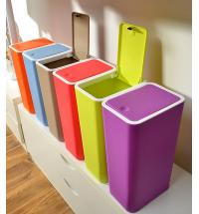 Creative home kitchen bathroom press dust waste litter garbage storage box trash can rubbi