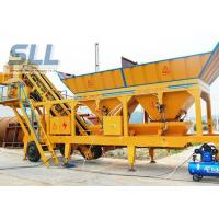 Wholesale Twin Shaft Mini Mobile Concrete Batching Plant For Construction Machinery from china suppliers