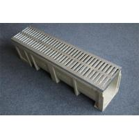 Buy cheap U shape linear drainage trench/ditch system with grills/ poly trench drain from Wholesalers