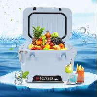 Wholesale 10L Rotomolded Blue Hard Shell Cooler with Bottle Opener,ruler marking,ice cooler bags,heavy duty, insulated cooler box from china suppliers
