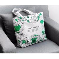 Wholesale China Custom Logo Promotion Zipper Grocery Shopping 8OZ Canvas Make Up Tote Cotton Bag,350X400MM Custom screen printing from china suppliers