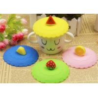 Wholesale Food Grade Silicone Fresh Cover / Silicone Cup Cover Round Shape Diameter 10.5cm from china suppliers