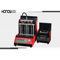 Buy cheap 4 Cylinders Gasoline Injector Tester , Ultrasonic Injection Cleaning Equipment 220 / 110 V from wholesalers