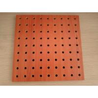 Wholesale Polyester Fiber Rock Wool Perforated Wood Acoustic Panels For Cinema / Museum from china suppliers