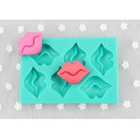 Sexy lip rectangle cake silicone molds 6 holes silicone chocolate