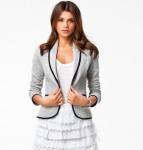 Women fashion women s slim short design turn down collar blazer grey