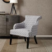 Rollback Decorative Floral Accent ChairSitting Room With Solid Wood Legs