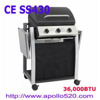 China 3 Burner Gas Barbecue with foldable side shelf on sale